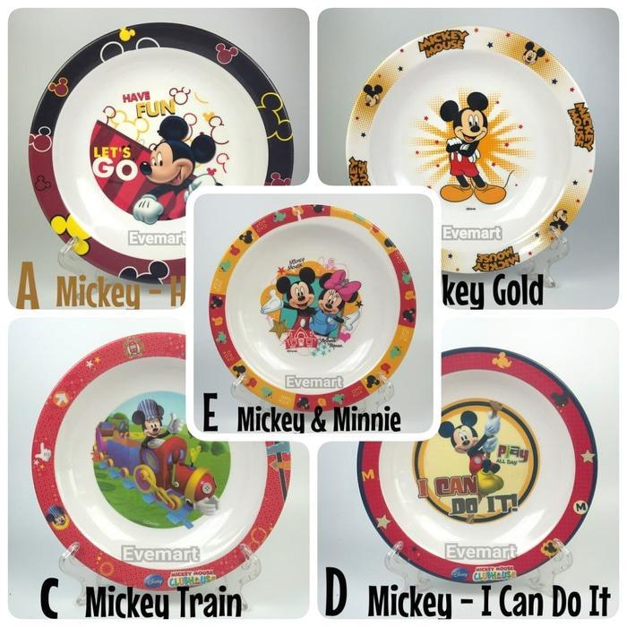 Piring Makan Anak Melamin Karakter Mickey Disney Golden Dragon