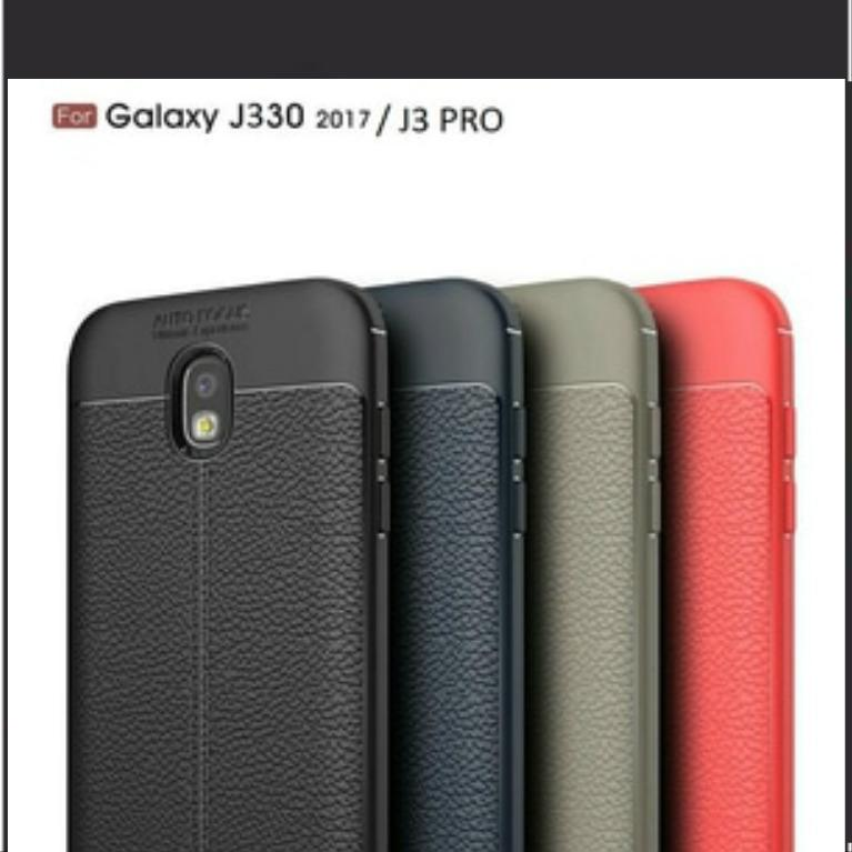Autofocus Case For SAMSUNG GALAXY J3 PRO Back Cover Luxury Silicone Leather Look TPU SOFT