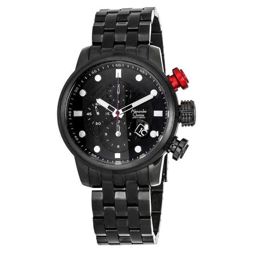 Review Alexandre Christie Jam Tangan Pria Hitam Hitam Stainless Steel 6163 New
