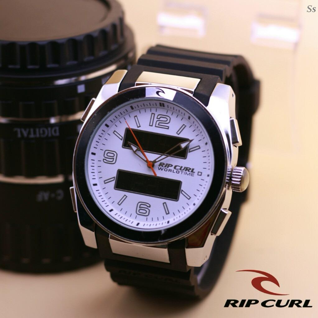 Jam Tangan Ripcurl Worldseries - Limited Edition Elegant Series-Pria Wanita Formal Kasual Terbaru-Women or Men Luxury Watch-Leather Strap-Kulit Kanvas Army Kekinian Sporty Fashionable Bonus Zippo Premium Beam Korek Free Trend 2018
