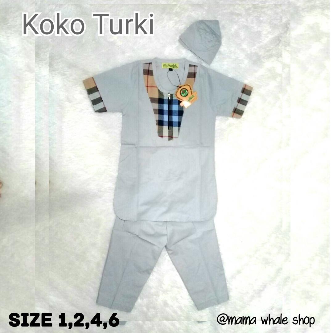 Set Koko Turki Anak Cowok/Laki - Baju Muslim Anak - (1-7th)