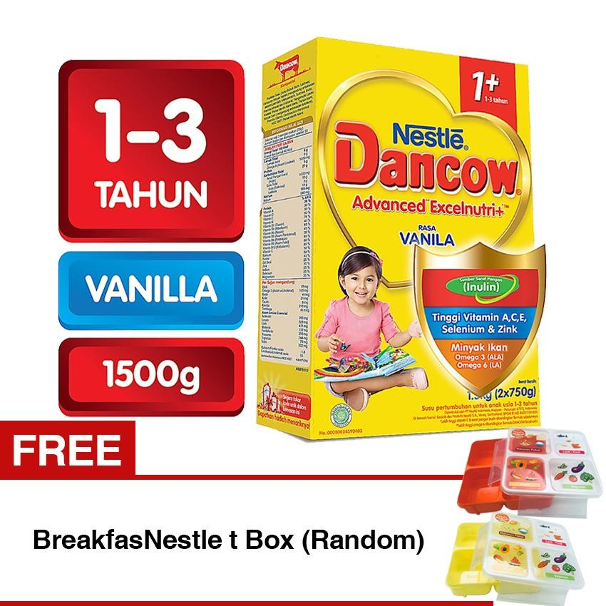 Review Dancow Advanced Excelnutri 1 Vanila Box 1 5Kg 2X750G Free Nestle Breakfast Box Dancow