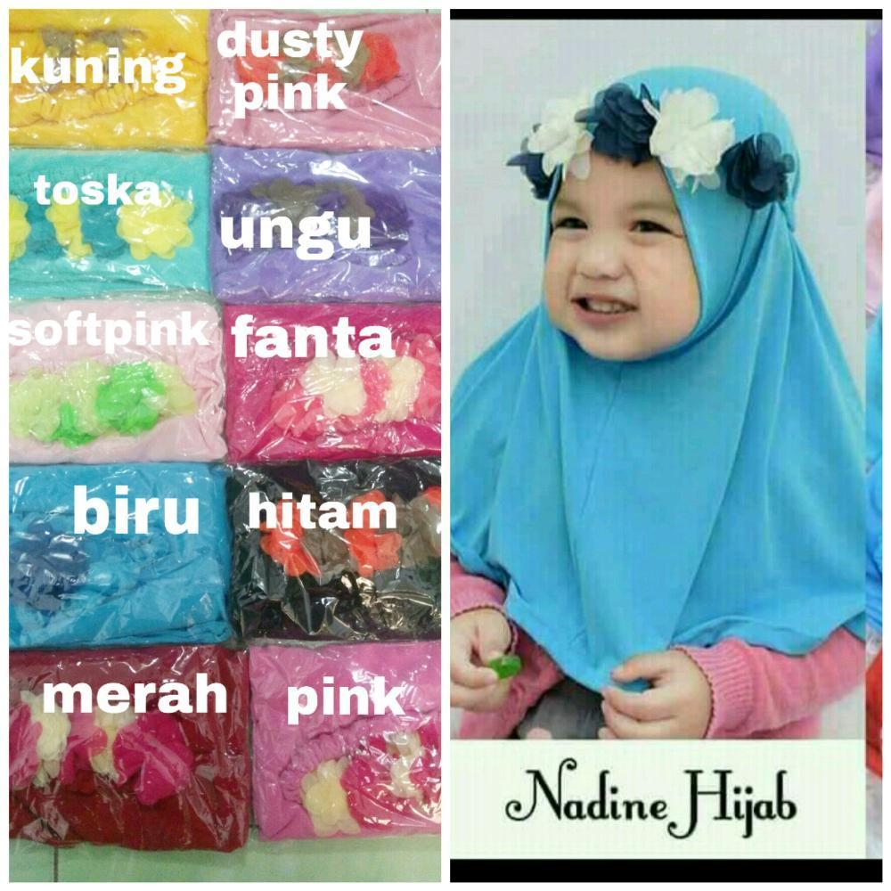 jilbab bayi bando nadine- jilbab anak 0-4 tahun - hijab bayi- kerudung bayi dan anak- khimar anak-  di lapak AF ONLINE 19yuniarti