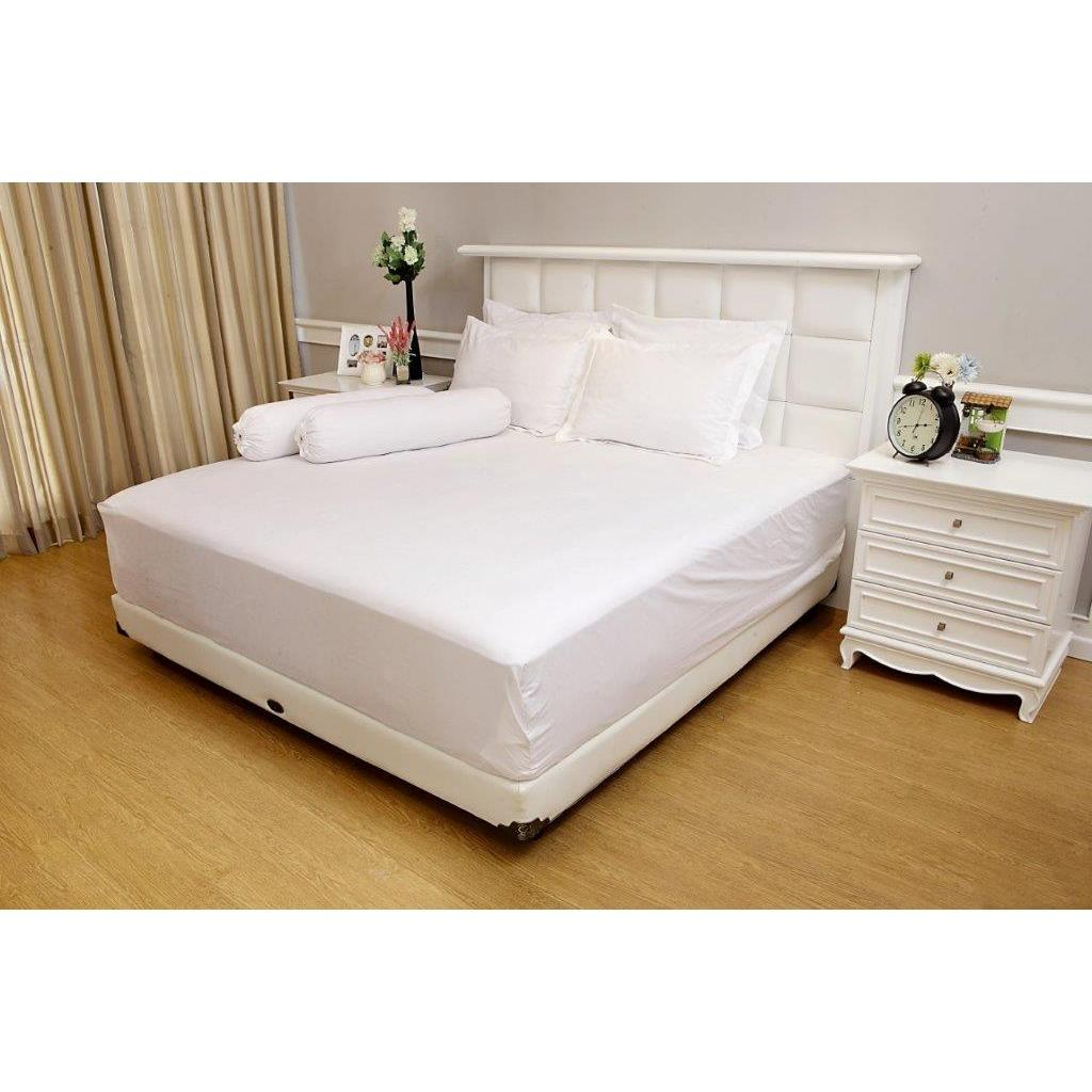 Jual Sprei Vallery Quincy Jacquard White Queen Size 160 X 200 X 30 Cm Di Bawah Harga
