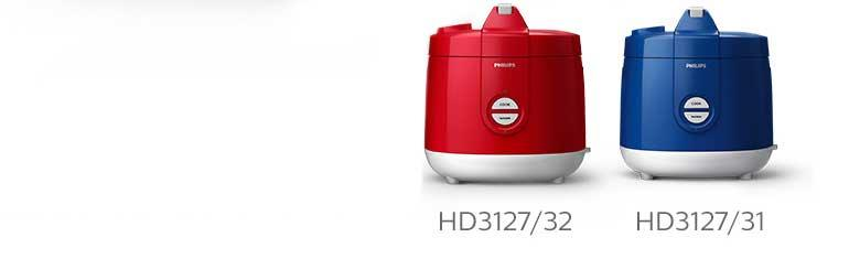 Philips Daily Collection Jar Rice Cooker HD3127/32 Merah