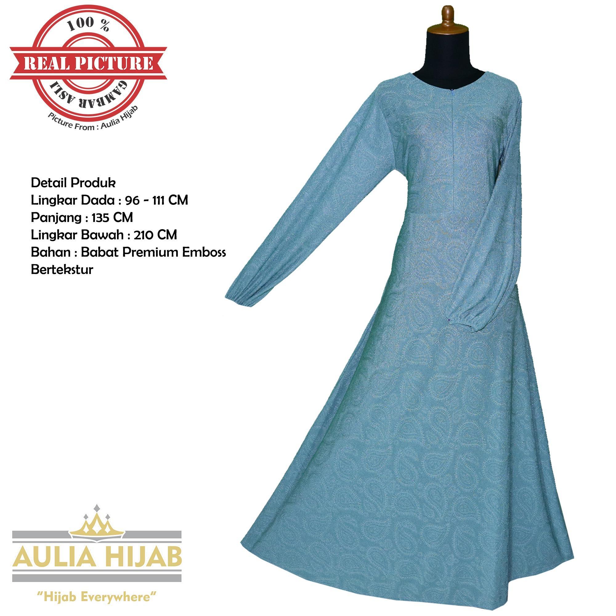 Aulia Hijab Premium - Gamis Siera Dress Bahan Babat Premium Emboss/Gamis Babat/Gamis Kaos/Gamis Premium/Gamis Murah/Gamis Cantik/Gamis Terbaru/Gamis Cantik/Gamis Terlaris/Gamis Syar'i/GAmis Santai/GAmis Pesta/Gamis Pesta