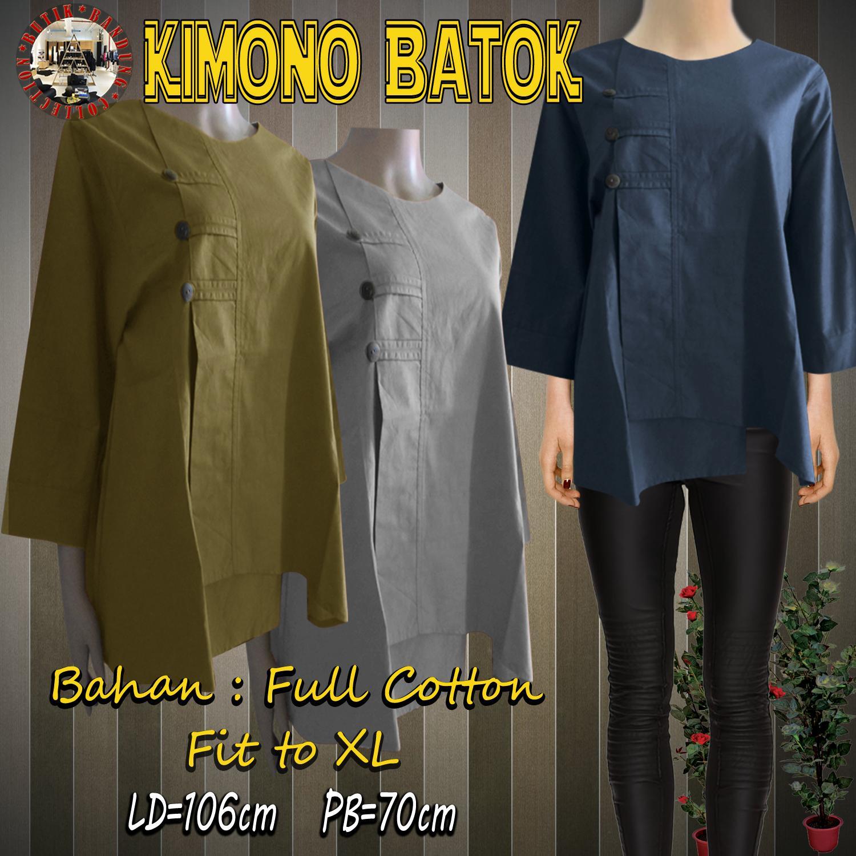 Baju Atasan Wanita Blouse Wanita Atasan Katun Paris Kimono Batok Variasi 2