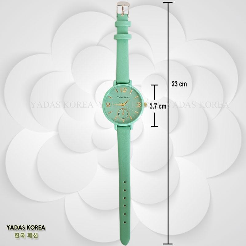 ... Yadas Korea Belvia Jam Tangan Kulit Wanita - 1727 Pale Green - 4 ... 1ebd757d19
