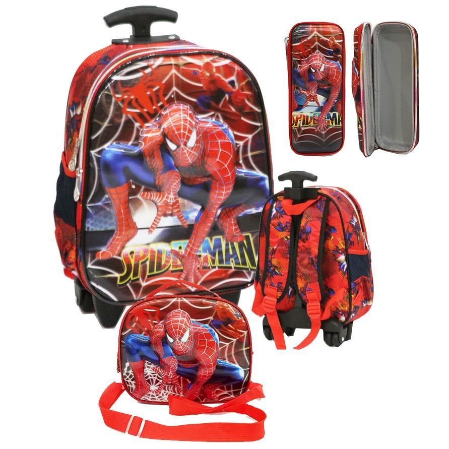 Beli Onlan Marvel Spiderman Super Hero 5D Timbul Lampu Dan Music Trolley Ukuran Tk 2 Kantung Dan Lunch Bag 3In1 Kotak Pensil 5D Timbul Import Merah Murah Di Dki Jakarta