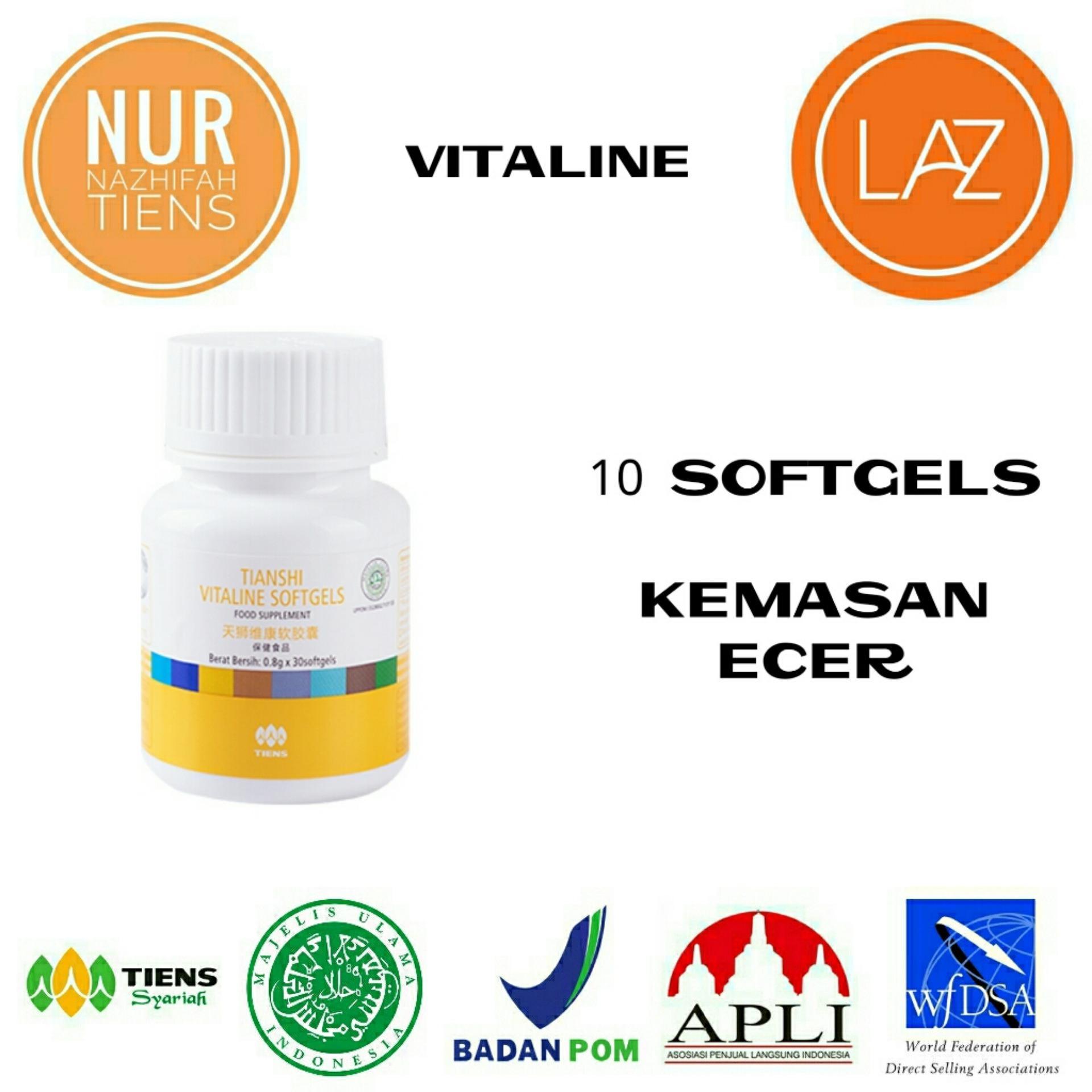 NN Tiens Vitaline Serum Pemutih Wajah & Nutrisi Pemutih Kulit Seluruh Tubuh Herbal Alami - Promo 10 Softgels