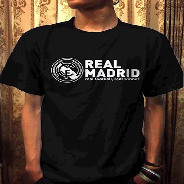 Kaos Real Madrid Real Football Real Champion  Distro Bola Terbaru