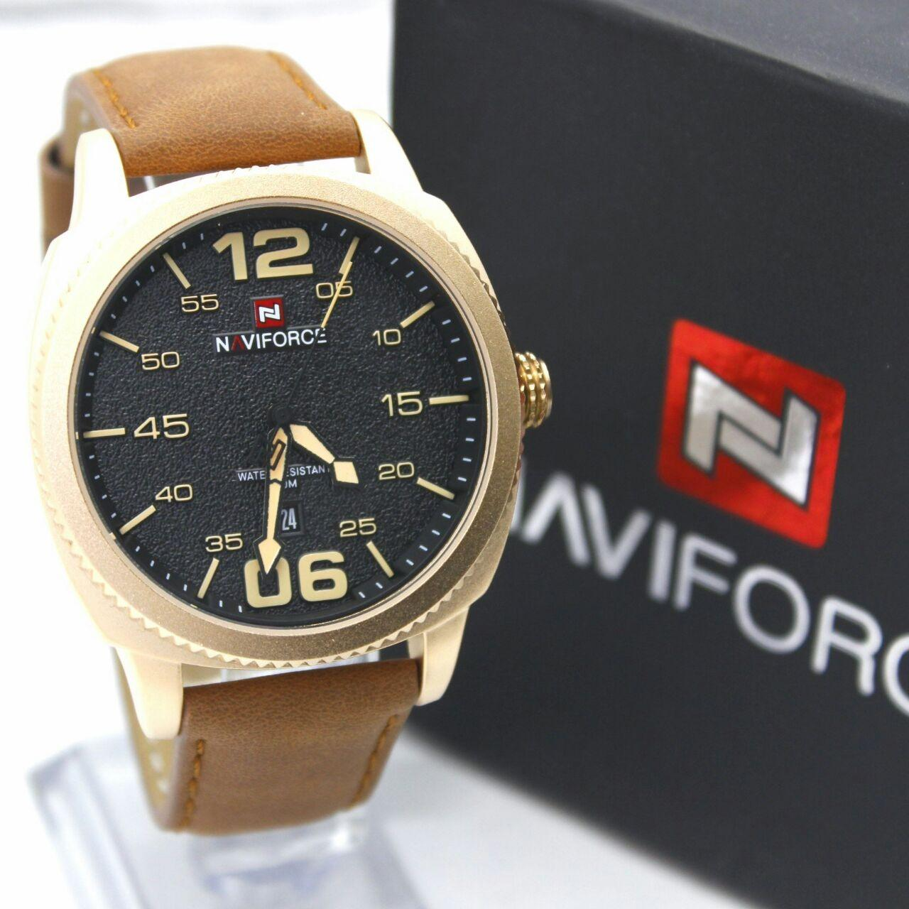 ... Naviforce Jam Tangan Pria Leather Strap Nf9083xf Daftar Harga Men Lazadacoid Source Police