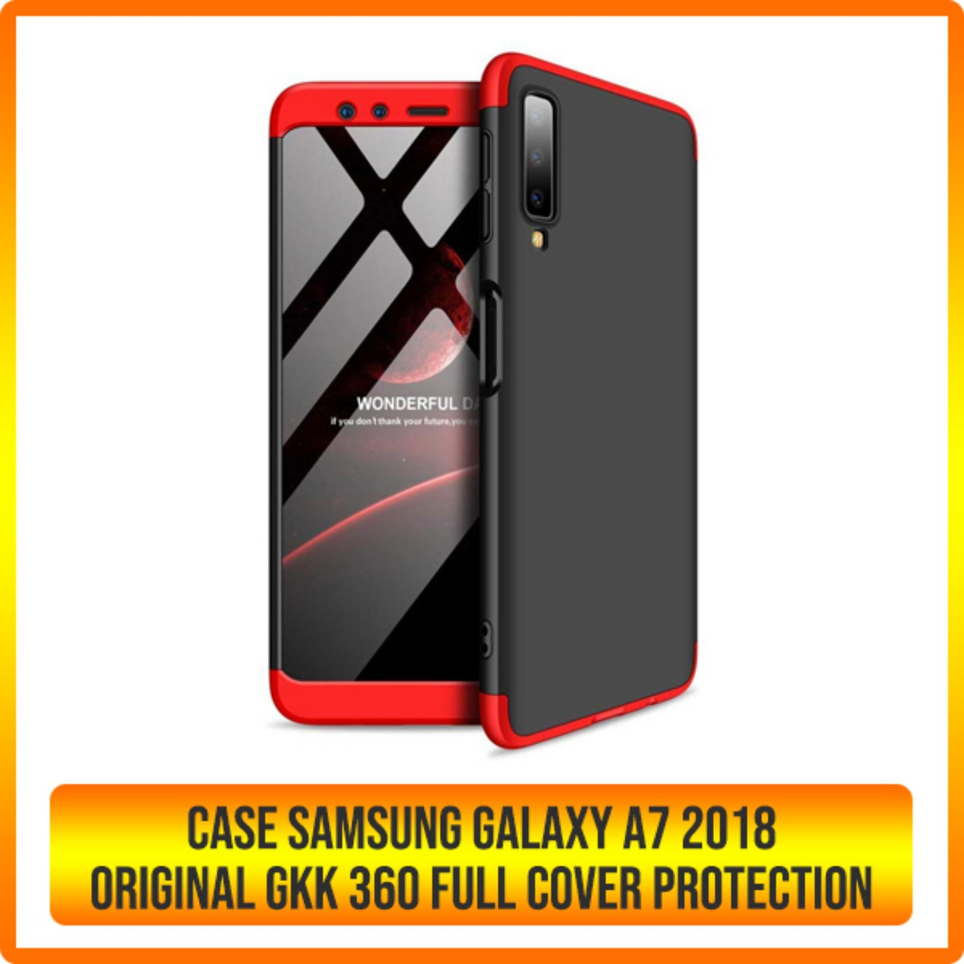 Features Case Samsung Galaxy A7 2018 Original Gkk 360 Full Cover