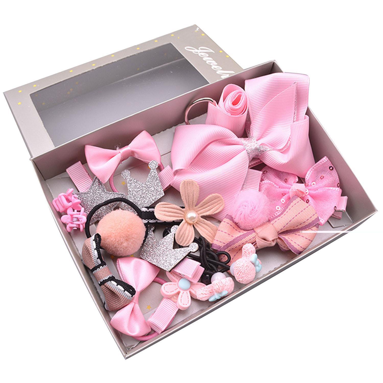 Fitur 17 Pcs Anak Gadis Jepit Rambut Set Baby Bayi Bow Bunga Buaya Besar 55 Cm Per Pack  Grosir Mini Hair Clip