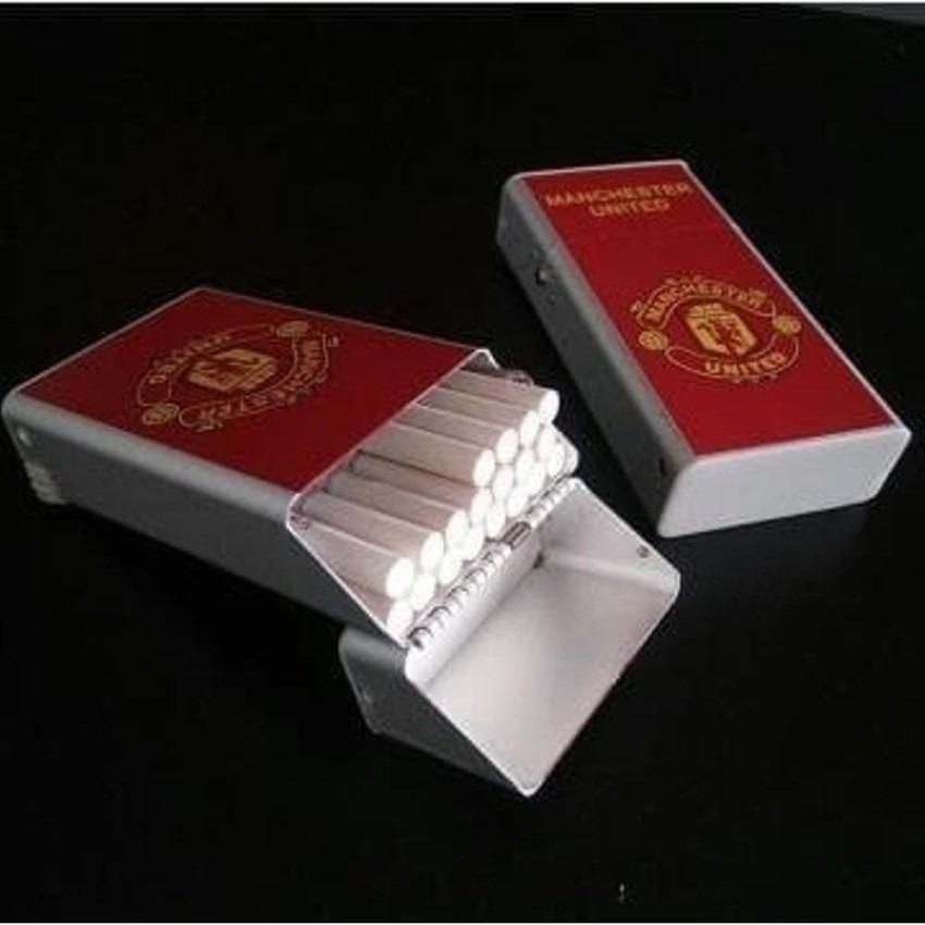 Kotak Tempat Rokok Plus Korek Api Motif Club Bola Man United - Merah