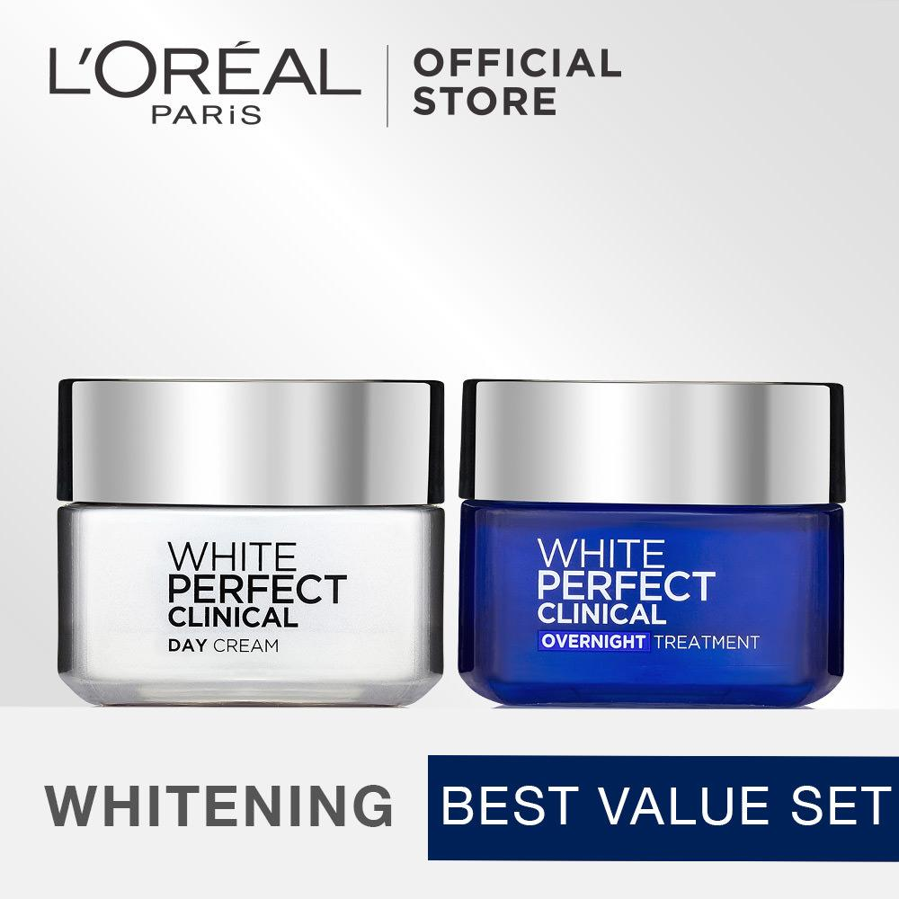 Diskon Besarl Oreal Paris Dermo Expertise White Perfect Clinical Day Night Cream Bundle
