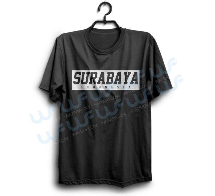 Kaos Surabaya Indonesia Cocok Untuk Oleh Oleh Bisa Request