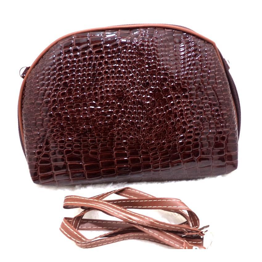Socialite Tas Selempang Mini Wanita - Sling Bag Crocodile Pattern - Clucth Cewek Murah