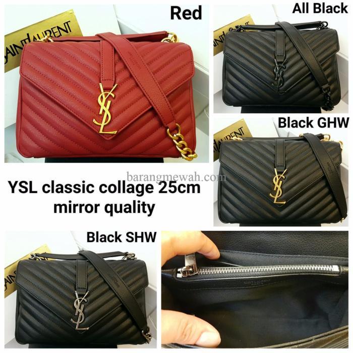 PROMO YSL Classic Collage Bag Mirror Quality Sling Bag / Tas Pesta Bra