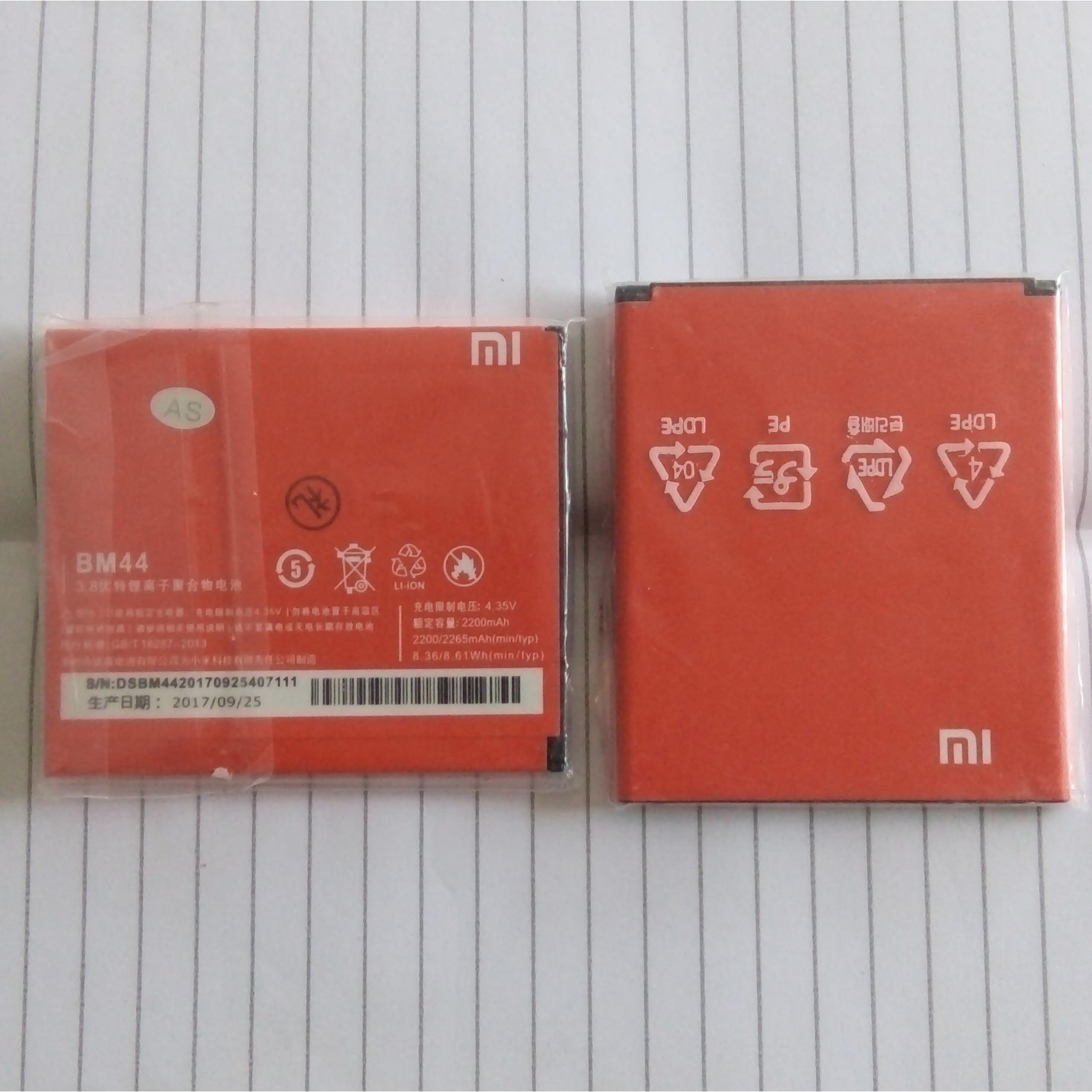 Baterai Xiaomi BM44 Untuk Xiaomi Redmi 1s / Redmi 2 2200mAH Batre Batere Battery Xiaomi BM