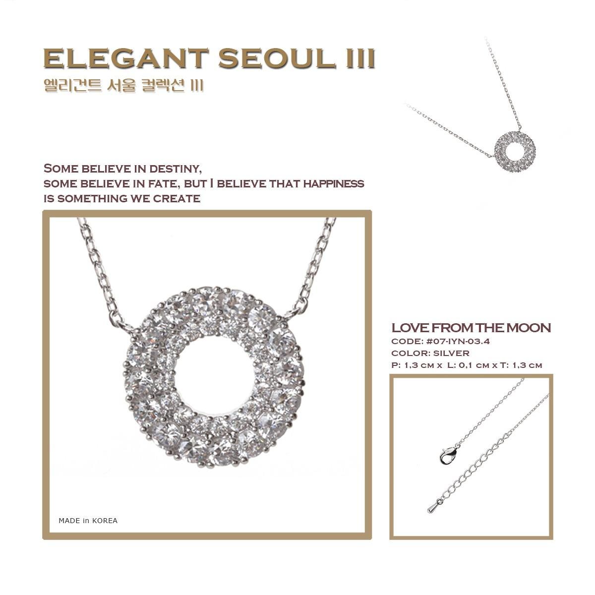 Promo Must Have Item Cocoa Jewelry Kalung Love Circle Termurah 2018 Happiness Fitur From The Moon Necklace Silver Color Dan