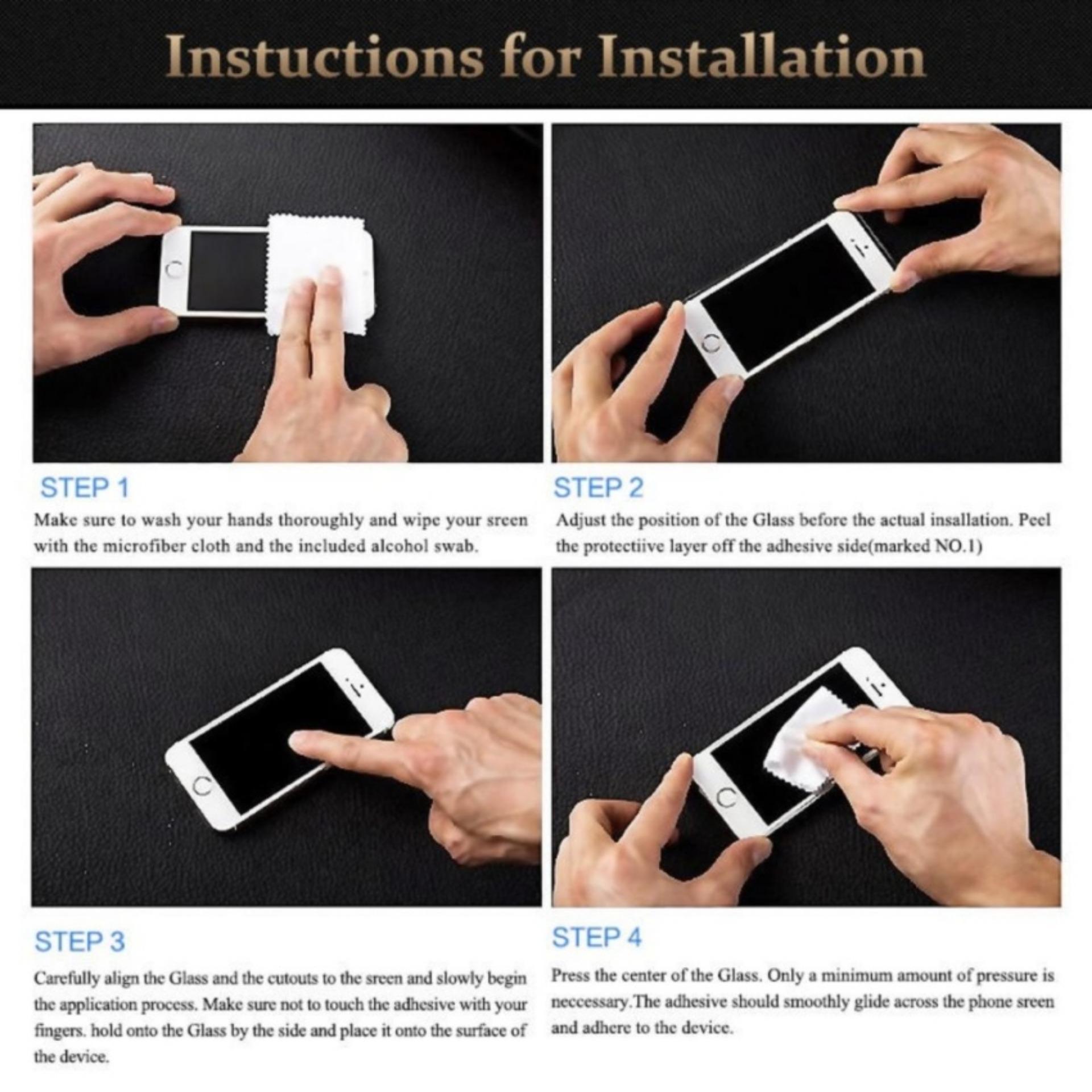... Accessories Hp Ambigo Tempered Glass 5D Full Cover Warna / Anti Gores Kaca Full Lem Untuk