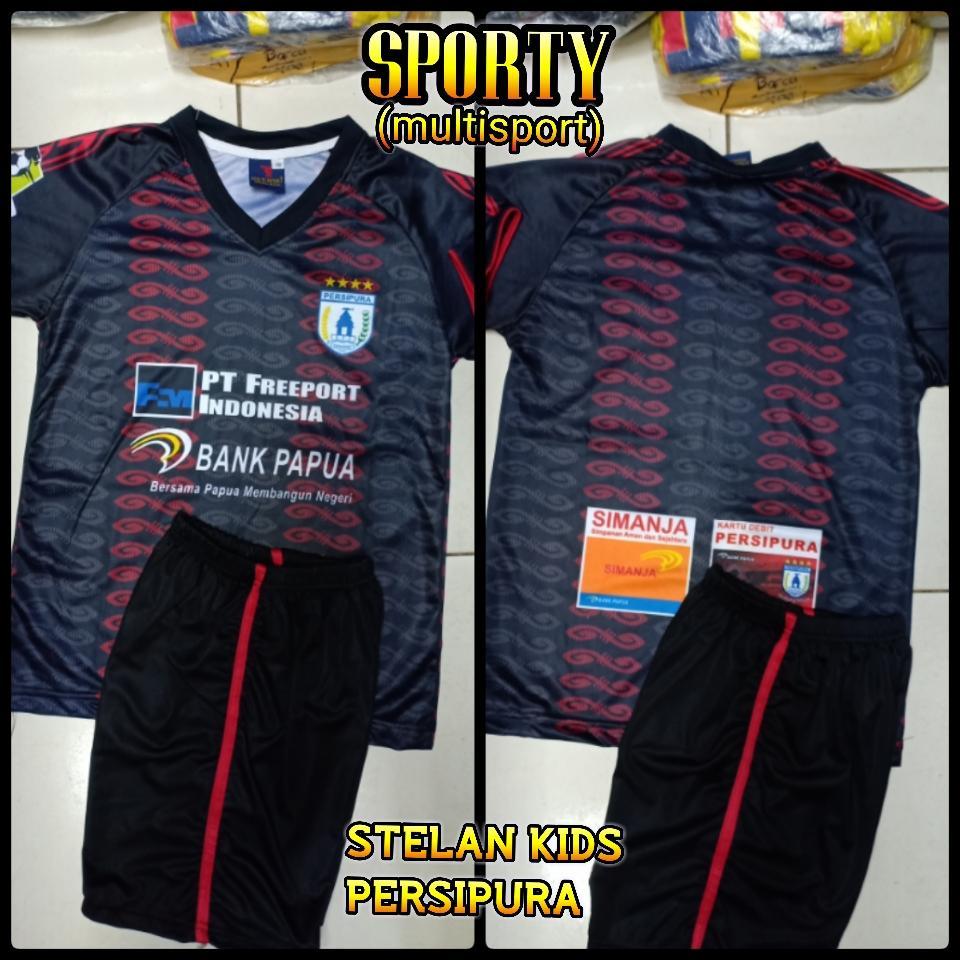 Kelebihan Jersey Anak Kaos Bola Timnas Indonesia Polos Setelan Baju Persipura Hitam