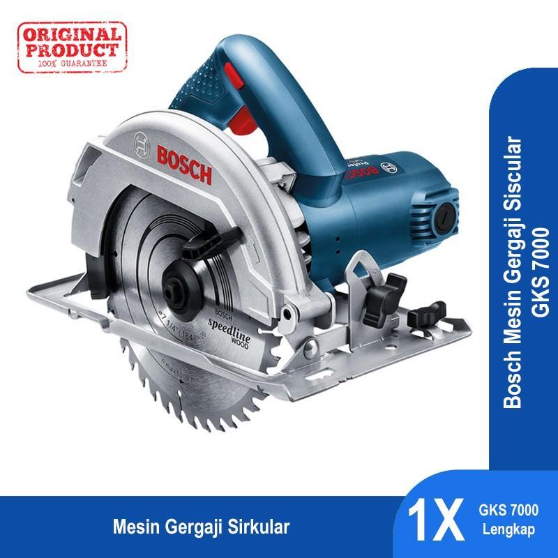 Bosch Mesin Gergaji Sirkular Genggam Listrik GKS 7000 Profesional -  06016760K1