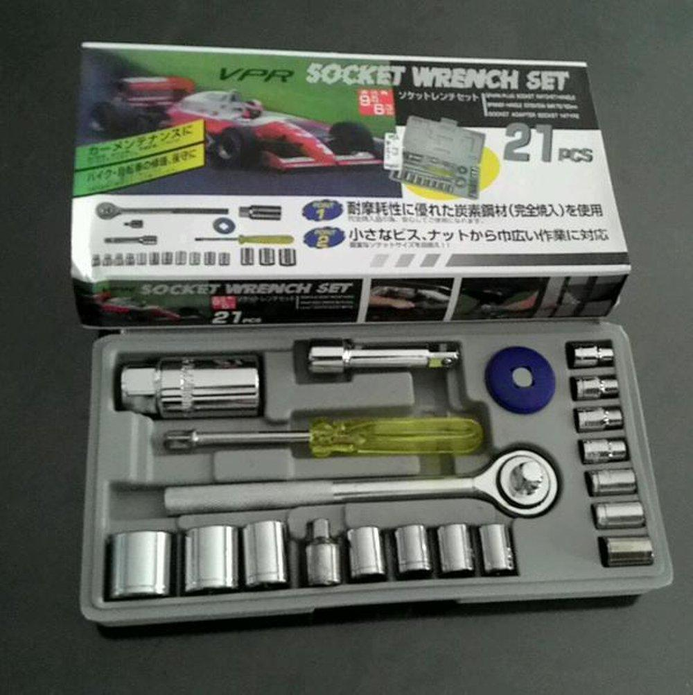 Kunci Pas Ring Set Fitur 5 Pcs Pegangan T Sekrup Keran Ratchet Dengan Vpr Socket Wrench