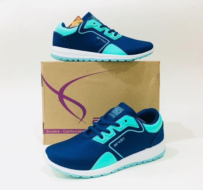 Ando Linden Sepatu Olahraga Wanita Sepatu Lari Warna Navy Tosca