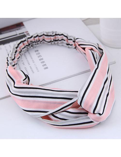LRC bando Fashion Stripe Patterm Decorated Hairband