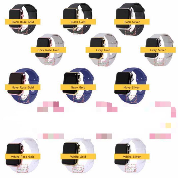 BEST SELLER Jam Tangan LED unisex Pria Wanita Apple Watch Imitation stainless grey - iemgLAcJ - 4