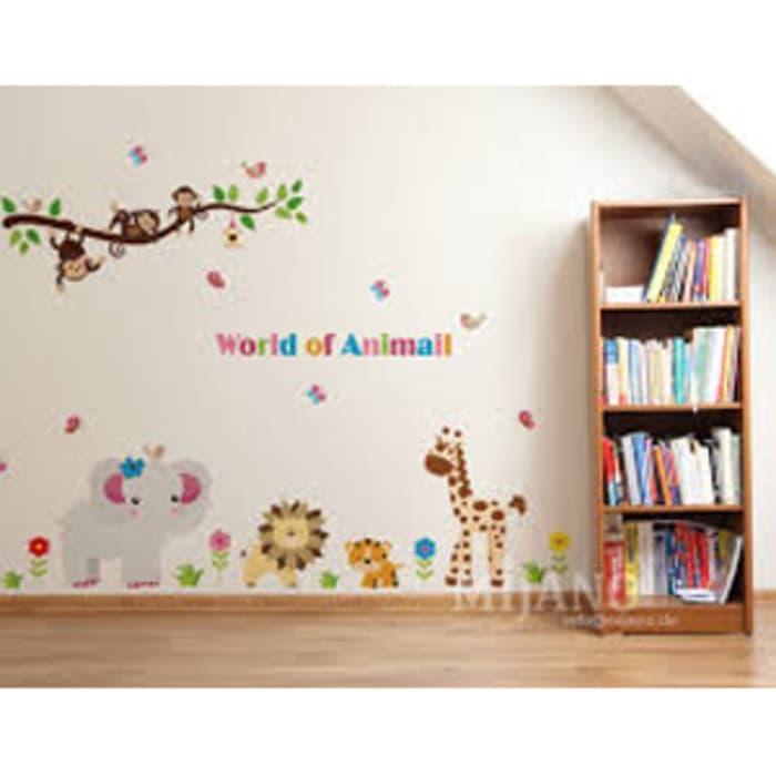 WALLPAPER STIKER TRANSPARAN 60X90 CM AY9052 WORLD OF ANIMAL wallsticker wall stiker hiasan dinding