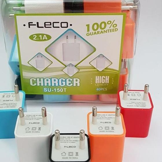 promo Adaptor Charger FLECO DUAL USB SU-150 ( TOPLES ) original - 2 ...