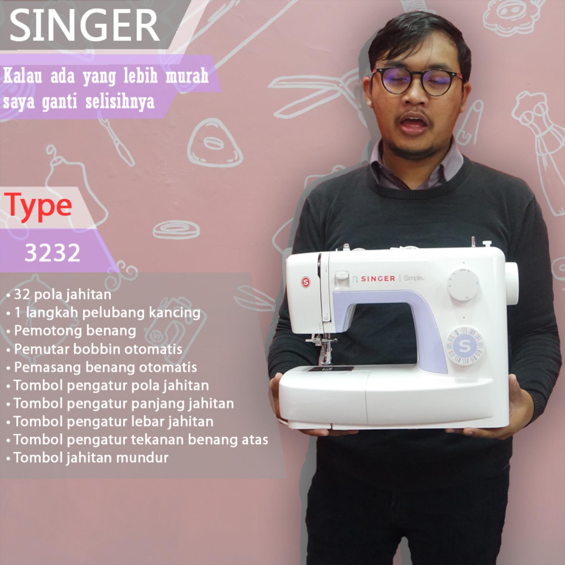 Fitur Mesin Jahit Singer 3232 Free Diy Clutch Dan Harga Terbaru
