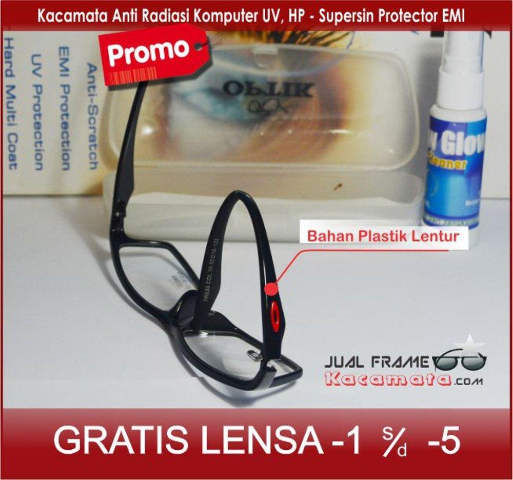 rame Kacamata Lentur - Lensa Minus Baca Minus Antiradiasi - Kacamata  Premium Sporty - Kacamata Hitam 8e6e39df83