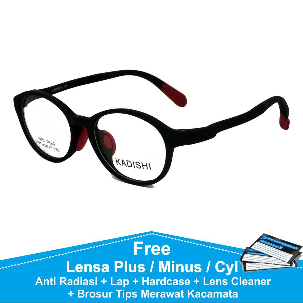 Frame Kacamata Baca   Plus   Minus Anti Radiasi Komputer FKIDS 2101 Hitam  Merah e7a83147df