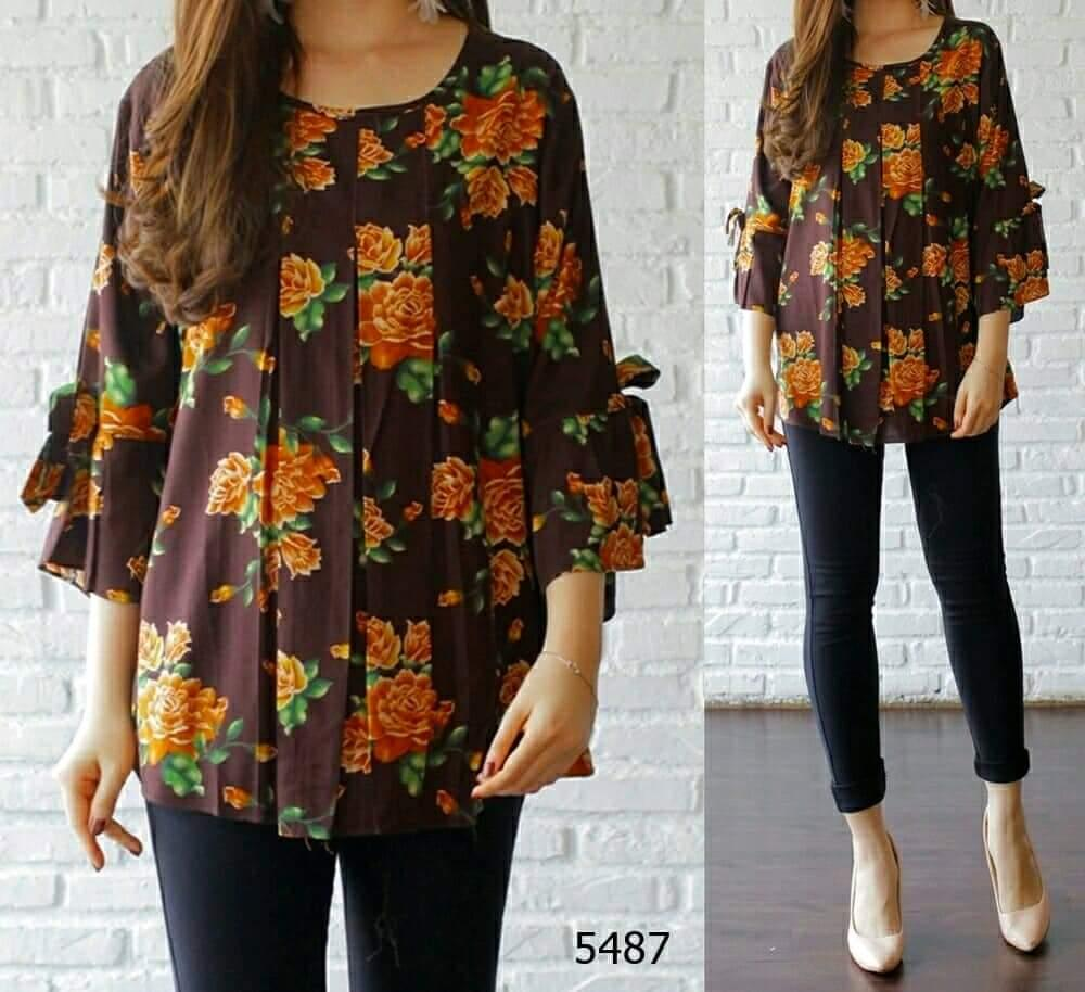 COUPLELOVER- BLOUSE JUMBO calista katun-XXXL BIG SHIRTS FASHION JUMBO BIG SIZE KEMEJA JUMBO