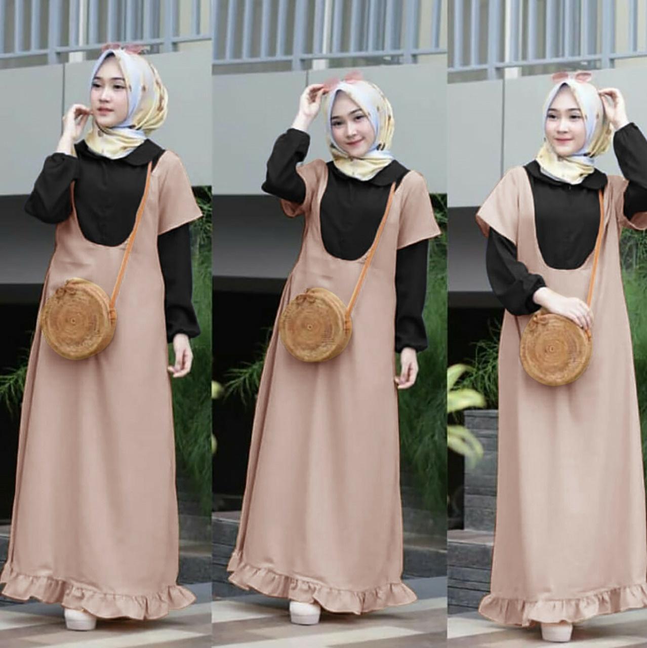 Claryne Zafina Maxi Dress Gamis Wanita Muslimah Balotelli Busui Cantik 1e0edf6dc4