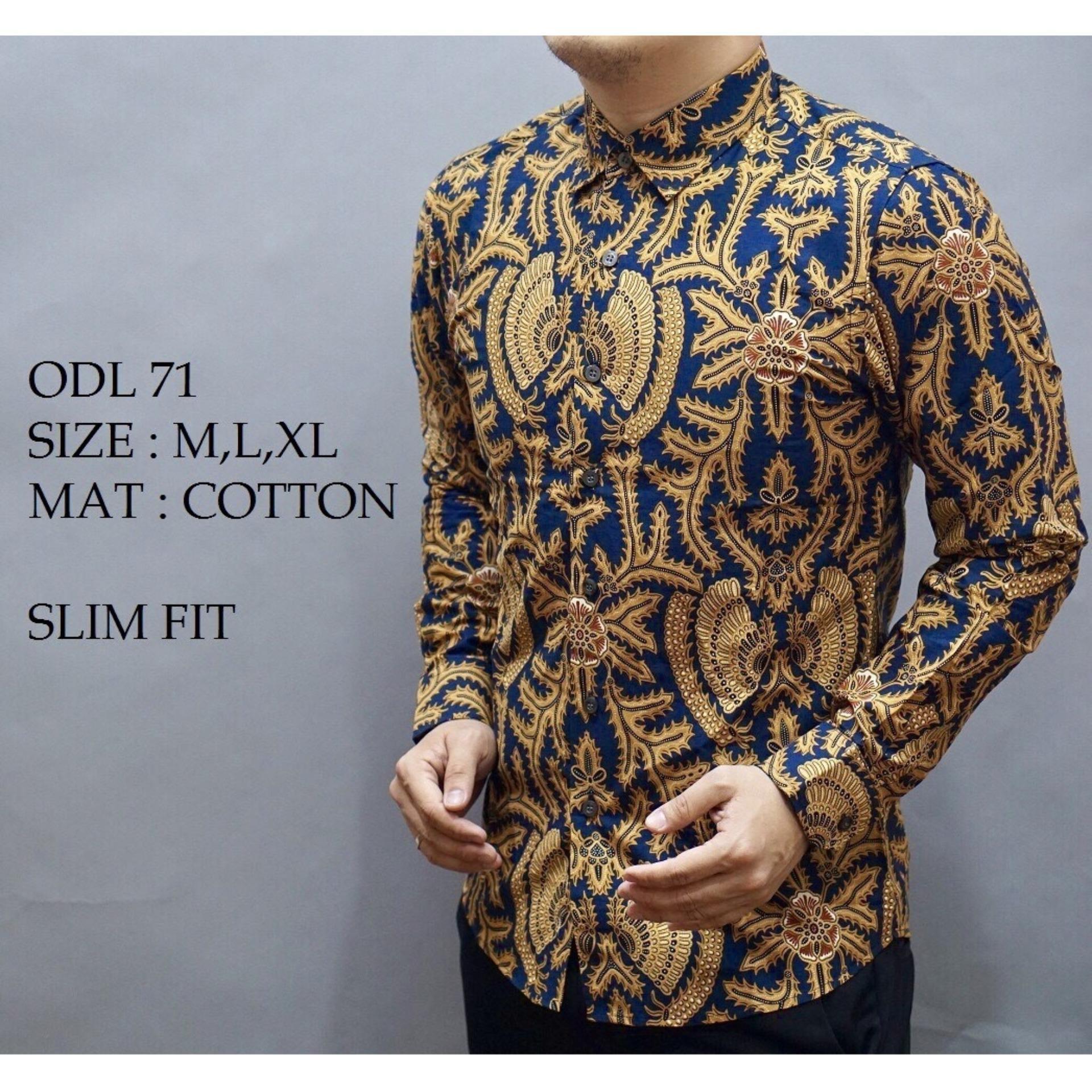 Baju Kemeja Batik Slimfit Pria Premium Motif Modern