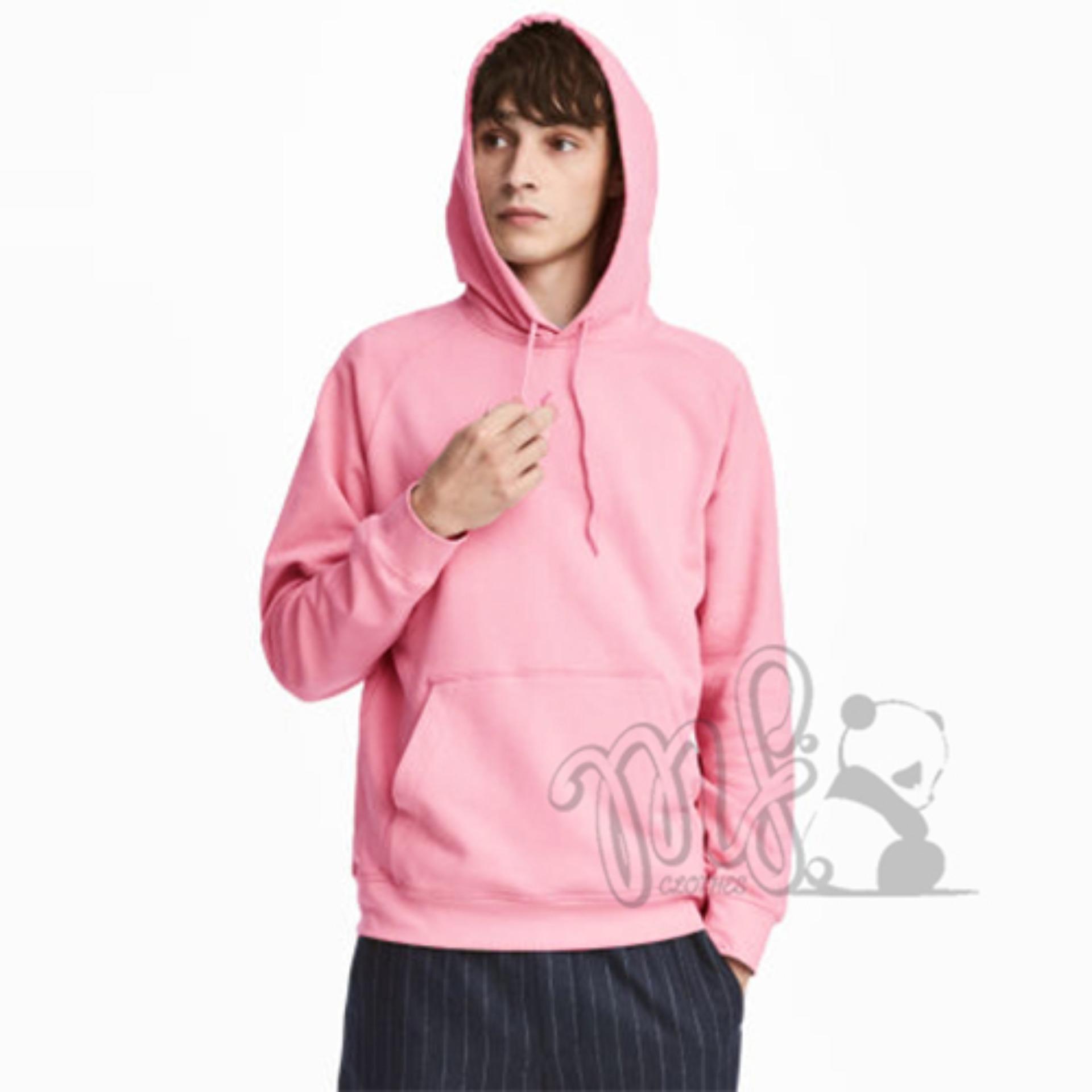 Beli Jaket Sweater Hoodie Jumper Polos Pink Pake Kartu Kredit