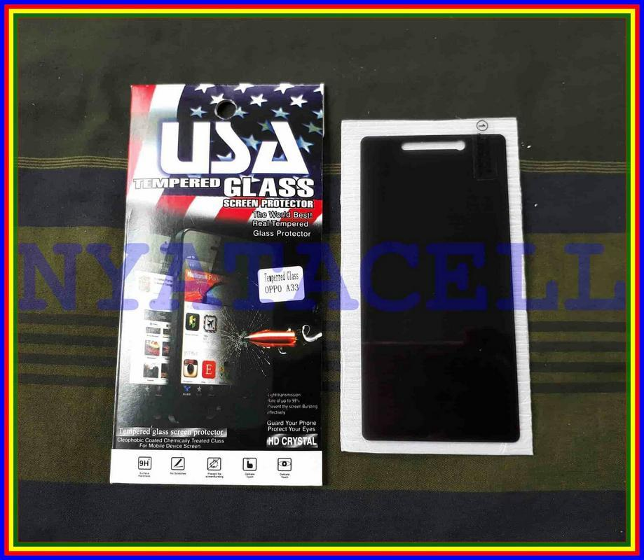Tempered Glass Spy Oppo Neo 7 A33 Anti Gores Kaca Privacy Gelap