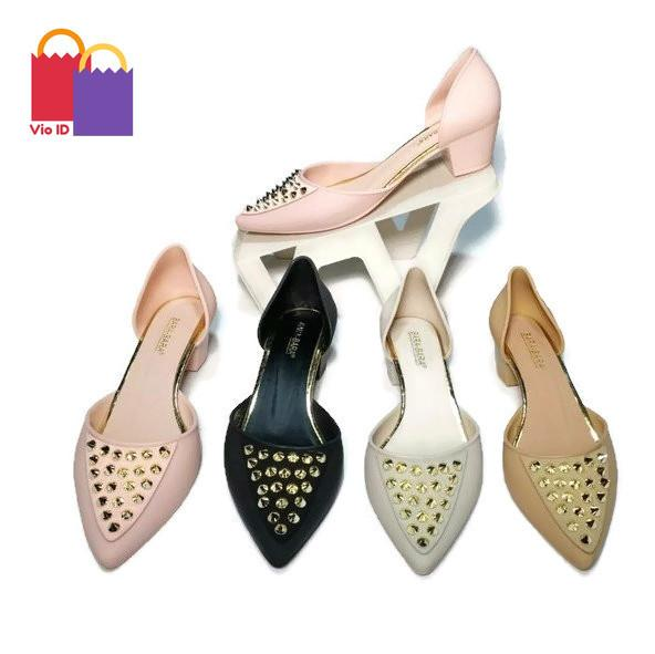 Mule Wanita - Sepatu Hak Tinggi Jelly Bara Bara - Tinggi 3 cm 273PKV Warna Dikirim