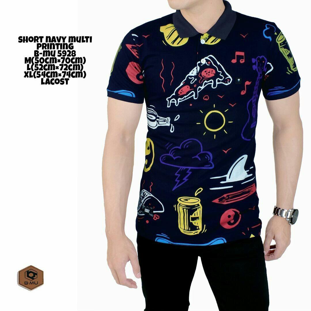 Harga Bajuku Murah Poloshirt Navy Multi Printing Polo Shirt Kaos Pria Atasan Pria Fashion Pria Kaos Distro Kerah Lipat Kerang Sanghai Kaos Oblong Superhero Casual Formal Kerja Kantor Long Slevees Short Slevees Baju Kecee Terbaik