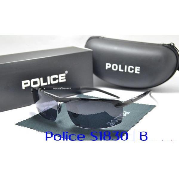 FRAME KACAMATA GAYA POLARIZED POLAROID POLICE S1830 UNISEX SUNGLASS