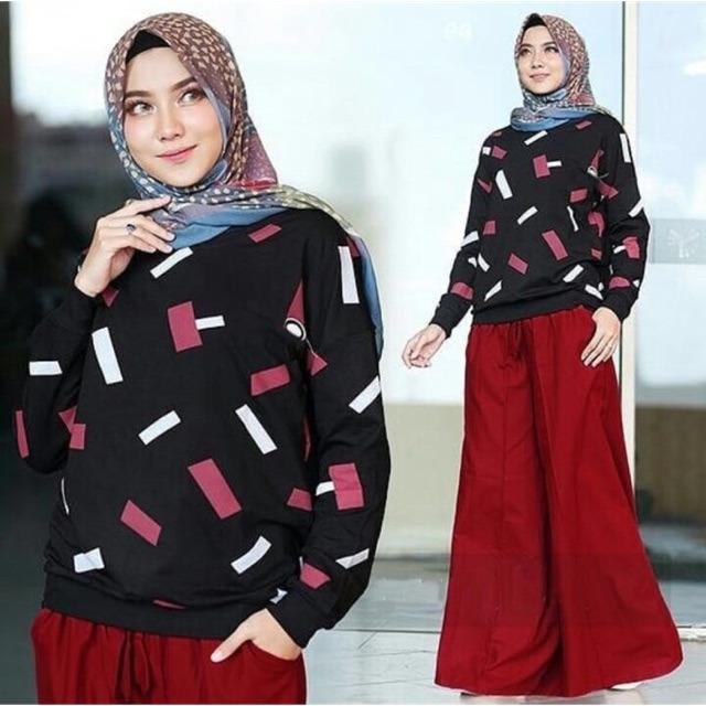 Damai fashion - baju hijab setelan wanita Shangrila - (tanpa hijab) konveksi tanah abang