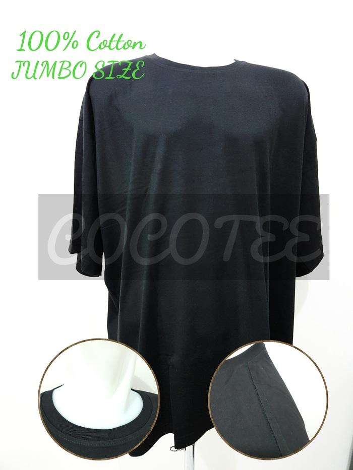 Kaos Polos Jumbo Size / Big Size Katun Combed 30s Size 5XL / XXXXXL