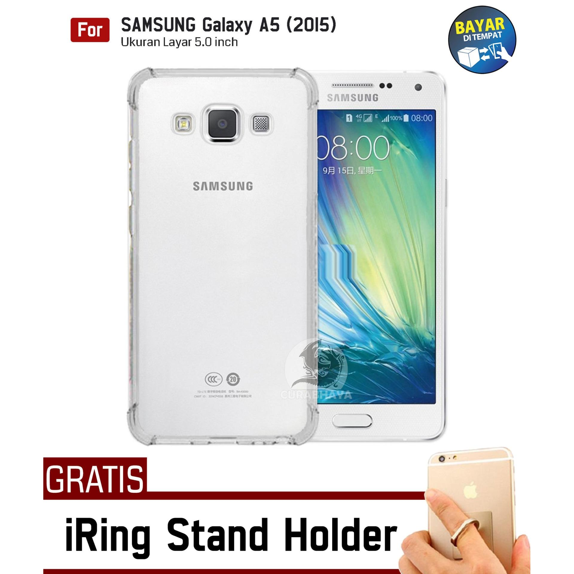 AirShock Samsung Galaxy A5 (2015) / A500 / Duos | Anti Crack Premium Softcase Cushion ShockProof + Gratis Free iRing Stand