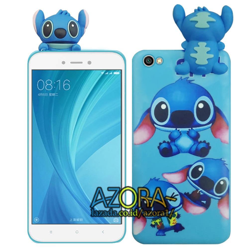 3D Case Squishy Intip Panjat Xiaomi Redmi Note 5A Non Finger Softcase Boneka - Stitch -