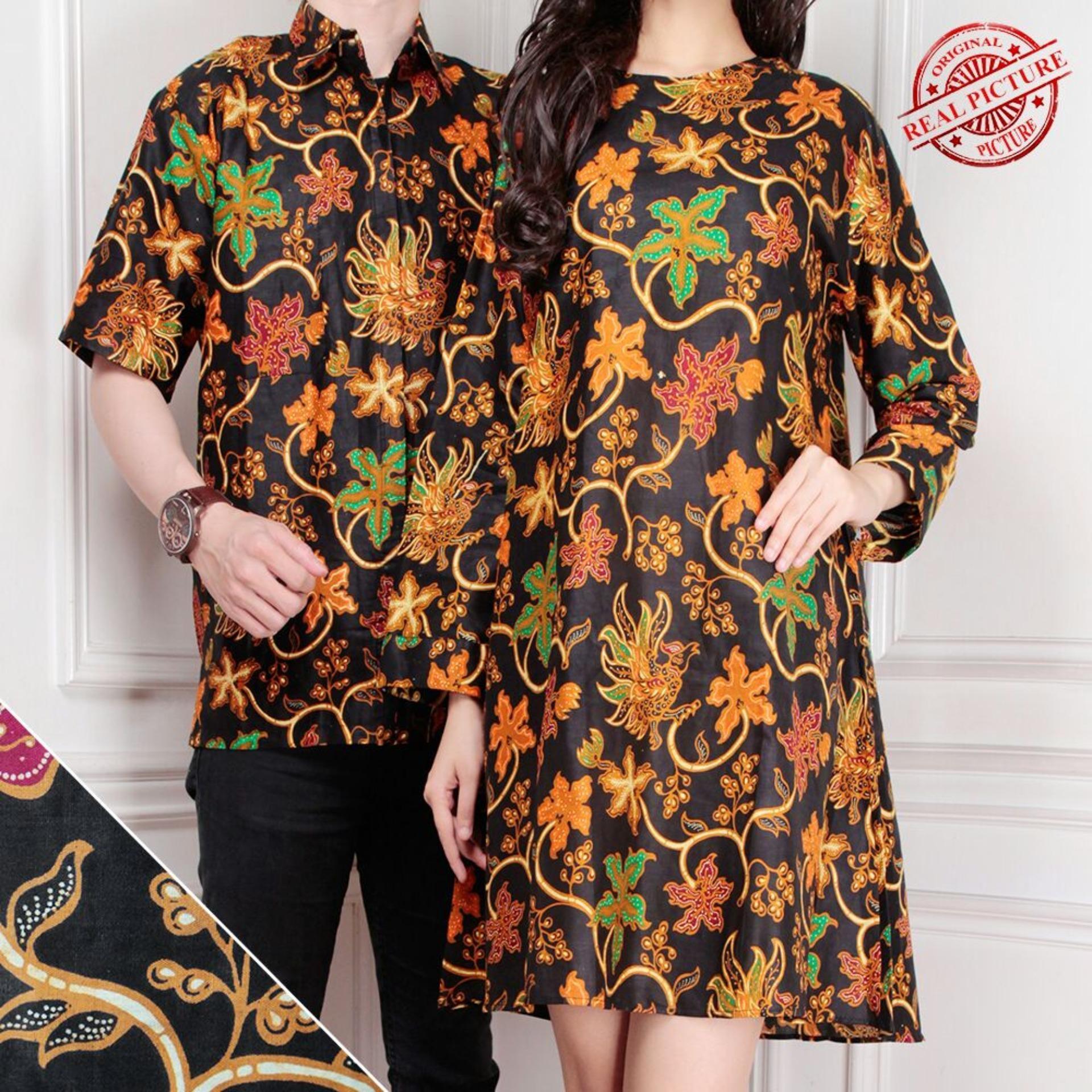 Miracle Couple Atasan Tunik Carissa Blouse Dan Kemeja Batik Pria